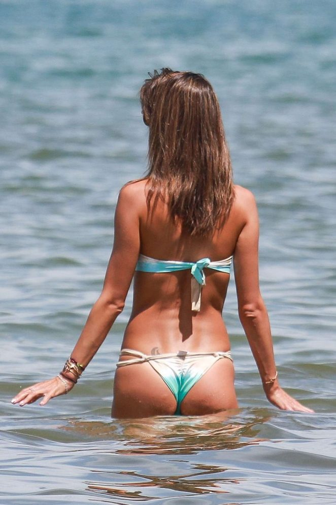 Alessandra Ambrosio Hot in Bikini at the beach in Brazil