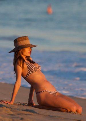 Alessandra Ambrosio in Bikini at the beach in Santa Monica