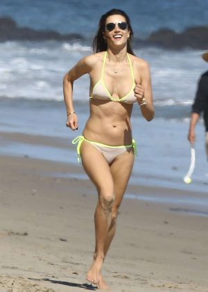 Alessandra Ambrosio in Bikini in Malibu