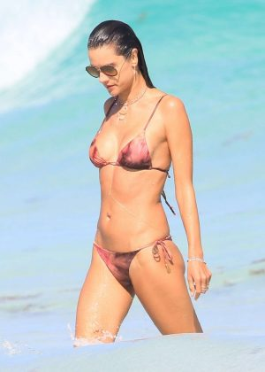 Alessandra Ambrosio in Bikini in the beach in Tulum