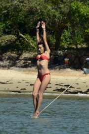 Alessandra Ambrosio in Bikini on a mega motorboat ride in Florianopolis