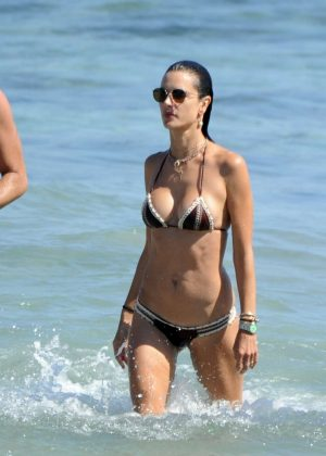 Alessandra Ambrosio in Bikini on holiday in Ibiza