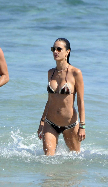 Alessandra Ambrosio in Bikini on holiday in Ibiza