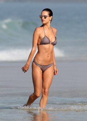 Alessandra Ambrosio in Bikini on Ipanema Beach in Rio de Janeiro