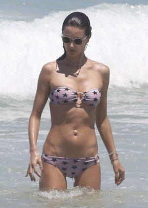 Alessandra Ambrosio in Bikini on the beach in Brazil