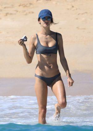 Alessandra Ambrosio in Bikini on the beach in Cabo