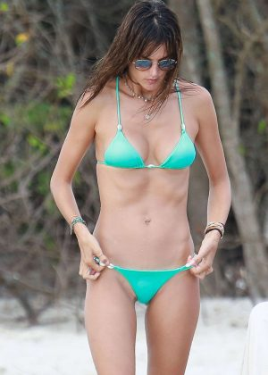 Alessandra Ambrosio in Bikini on the beach in Canasvieiras