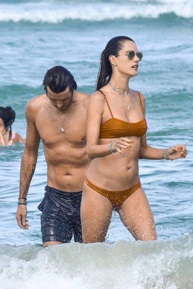 Alessandra Ambrosio - In bikini on the beach in Florianopolis