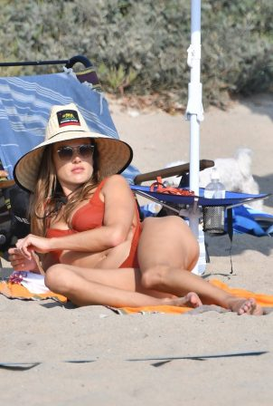 Alessandra Ambrosio - In bikini on the beach in Santa Monica