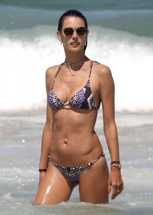 Alessandra Ambrosio in Bikini on Vacation in Florianopolis
