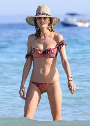 Alessandra Ambrosio in Bikini on vacation in Ibiza