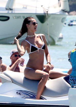 Alessandra Ambrosio in Bikini on Yacht in Florianopolis Pic 3 of 35
