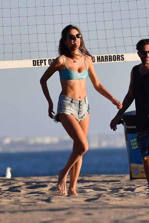 Alessandra Ambrosio 2019 : Alessandra Ambrosio in Bikini Top and Shorts-49