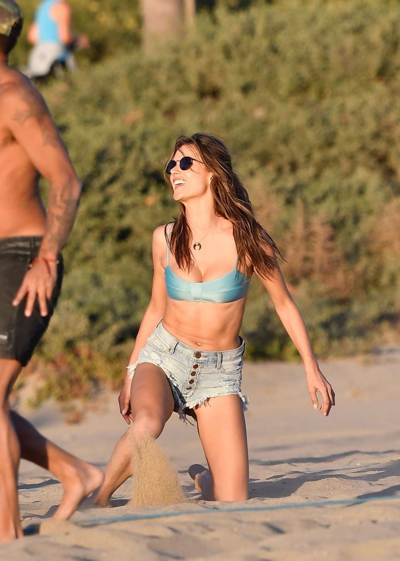 Alessandra Ambrosio 2019 : Alessandra Ambrosio in Bikini Top and Shorts-53