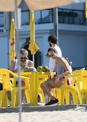 Alessandra Ambrosio in Bikini Top -04