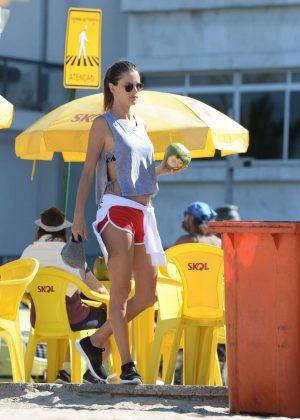 Alessandra Ambrosio in Bikini Top -06