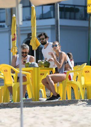 Alessandra Ambrosio in Bikini Top -12
