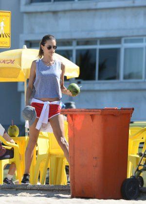 Alessandra Ambrosio in Bikini Top -22