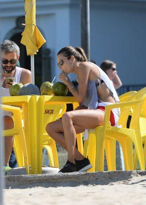 Alessandra Ambrosio in Bikini Top -23