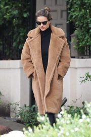 Alessandra Ambrosio in Brown Coat - Out in Brentwood