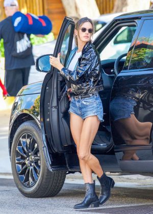 Alessandra Ambrosio in Cut-offs - Out in Los Angeles