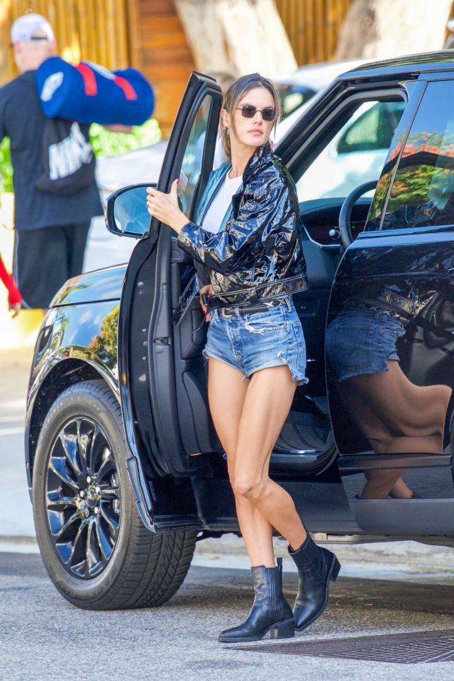Alessandra Ambrosio in Cut-offs – Out in Los Angeles