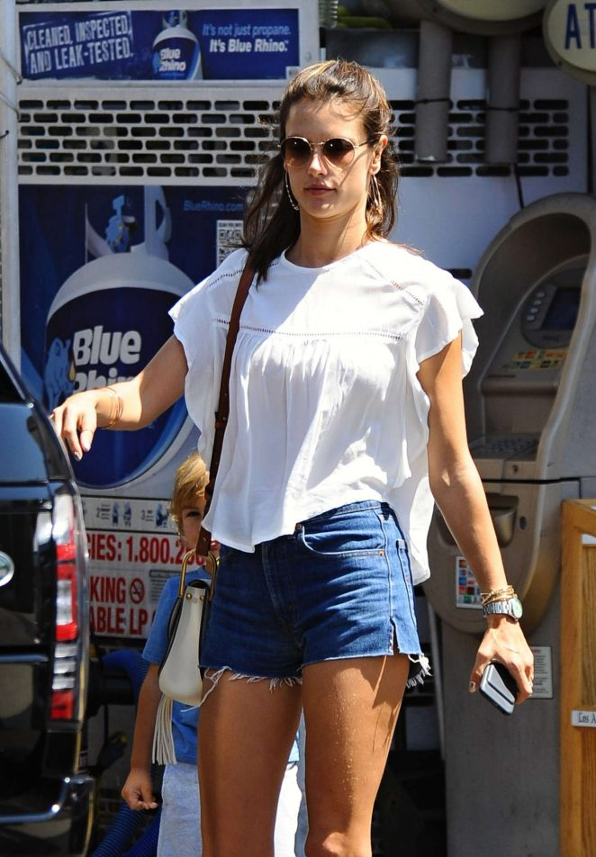 Alessandra Ambrosio in Cut-offs Shopping in Los Angeles
