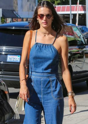 Alessandra Ambrosio in Jeans at Urth Caffe in West Hollywood