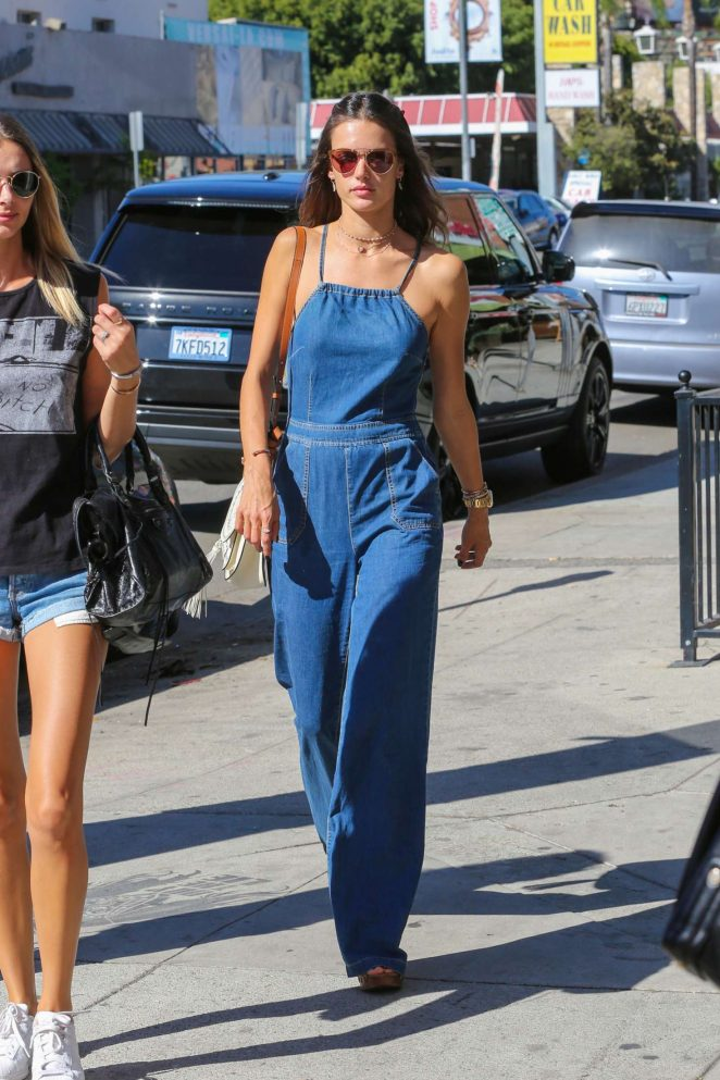 Alessandra Ambrosio in Jeans at Urth Caffe -15