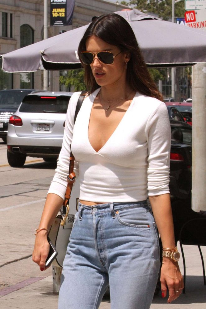 Alessandra Ambrosio in Jeans Out in West Hollywood