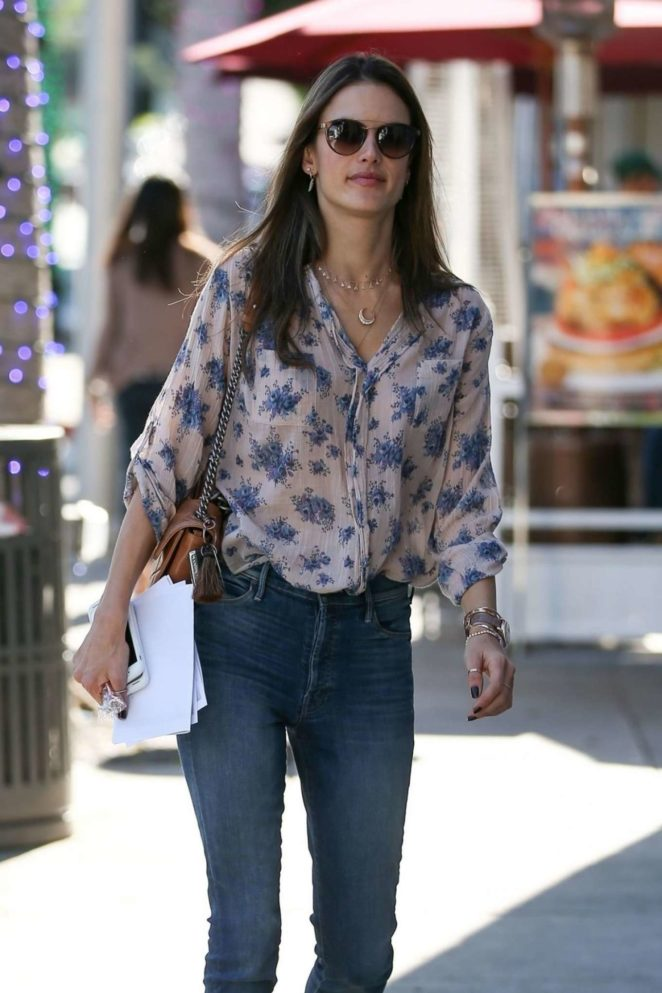 Alessandra Ambrosio in Jeans Out Shopping in Beverly Hills