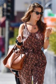 Alessandra Ambrosio in Jumpsuit - Out for lunch in West Hollywood