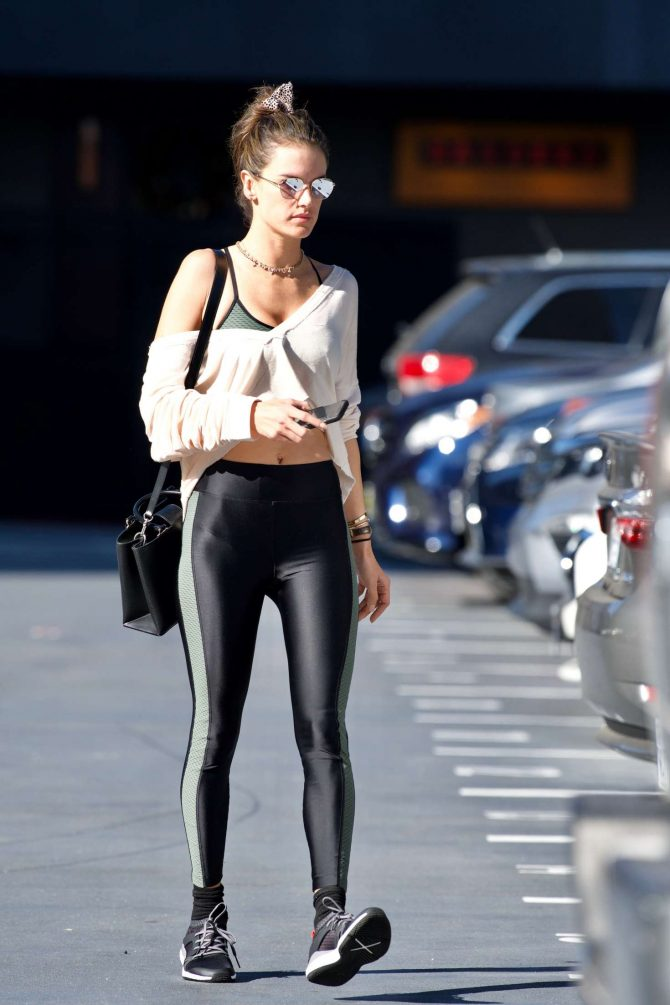 Alessandra Ambrosio in Leggings - Out in Brentwood