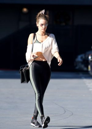 Alessandra Ambrosio in Leggings out in Brentwood