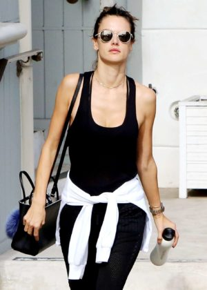 Alessandra Ambrosio in Leggings out in Los Angeles