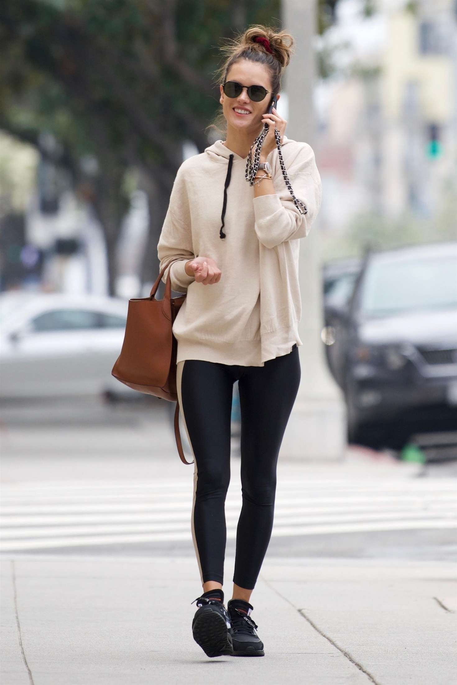 Alessandra Ambrosio in Leggings - Out in Los Angeles