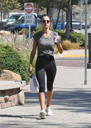 Alessandra Ambrosio in Leggings out in Malibu