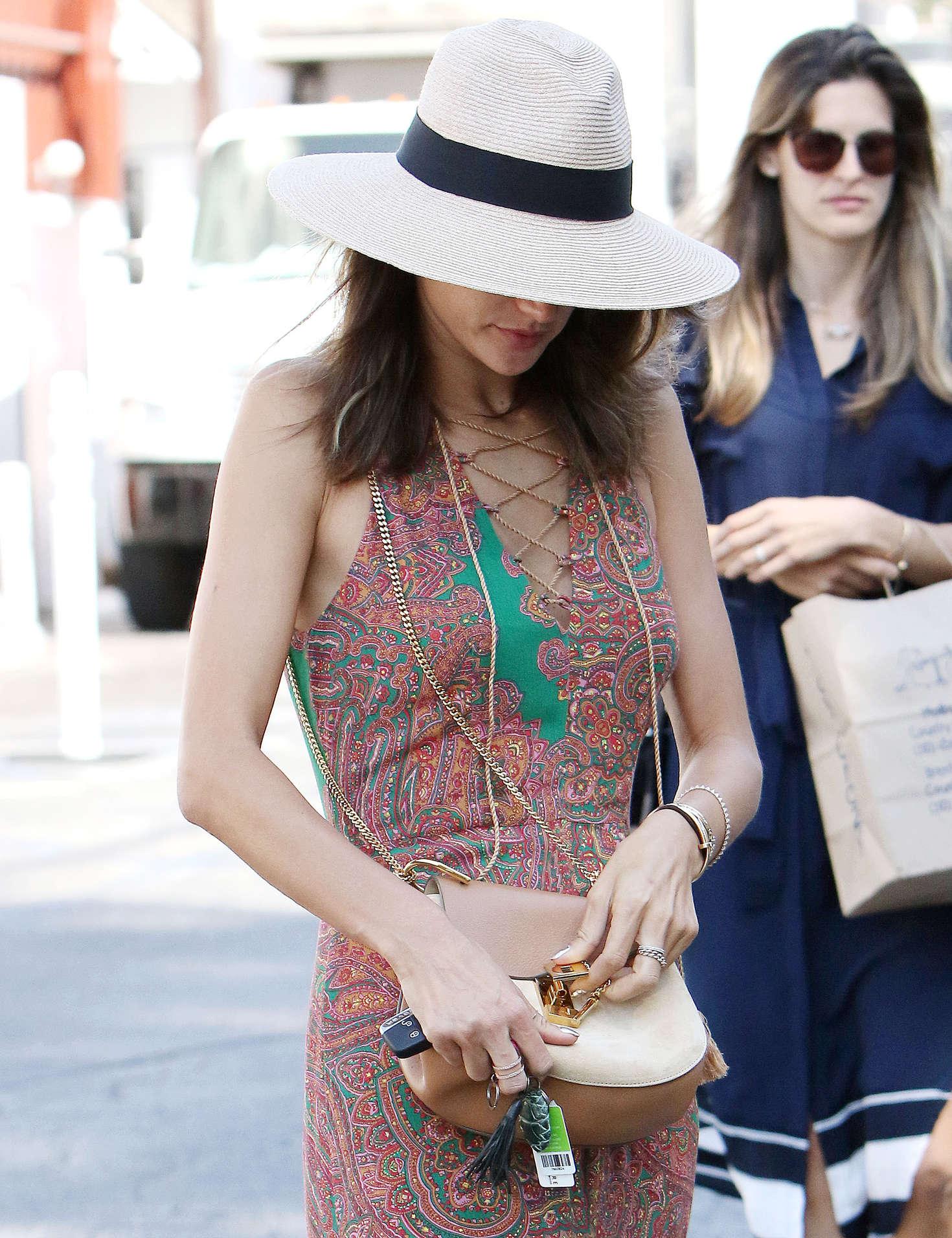 Alessandra Ambrosio 2016 : Alessandra Ambrosio in Long Summer Dress -04