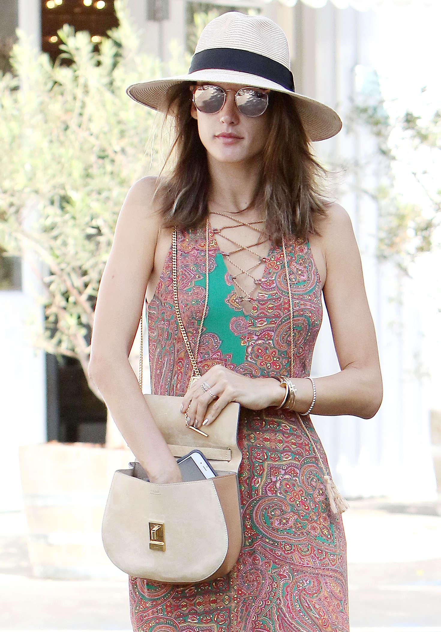 Alessandra Ambrosio 2016 : Alessandra Ambrosio in Long Summer Dress -08