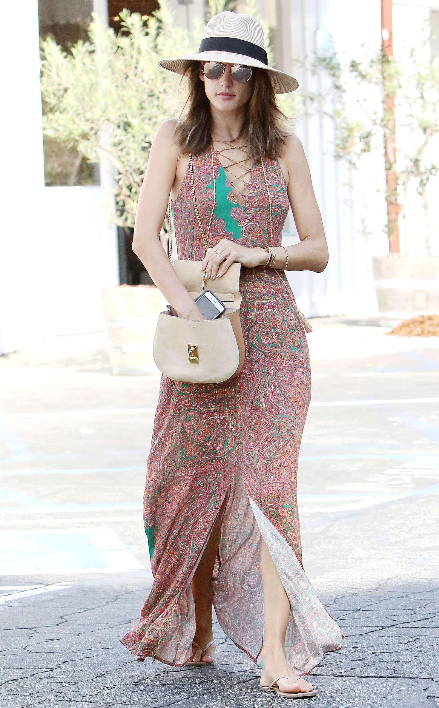 Alessandra Ambrosio 2016 : Alessandra Ambrosio in Long Summer Dress -10