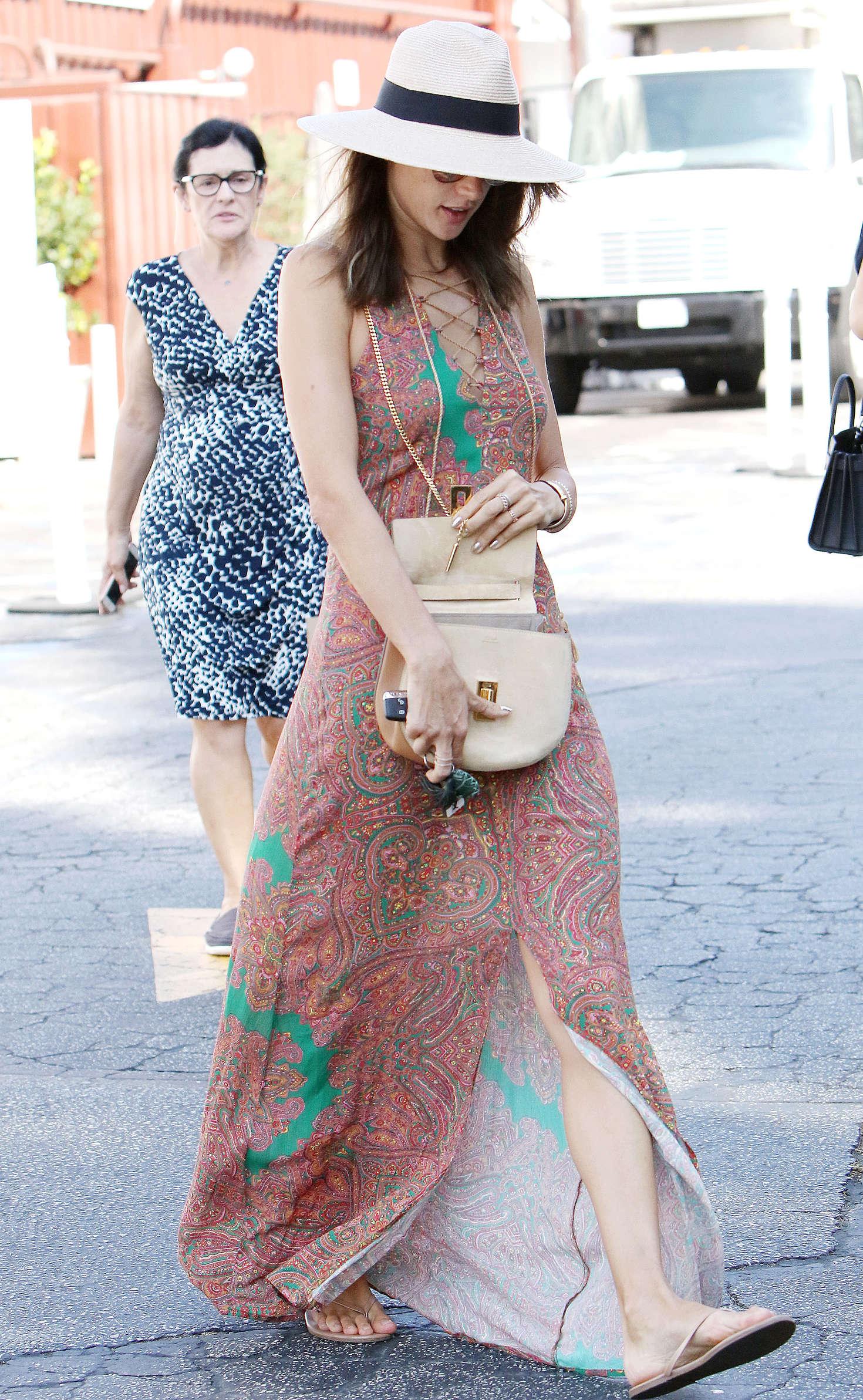 Alessandra Ambrosio 2016 : Alessandra Ambrosio in Long Summer Dress -12