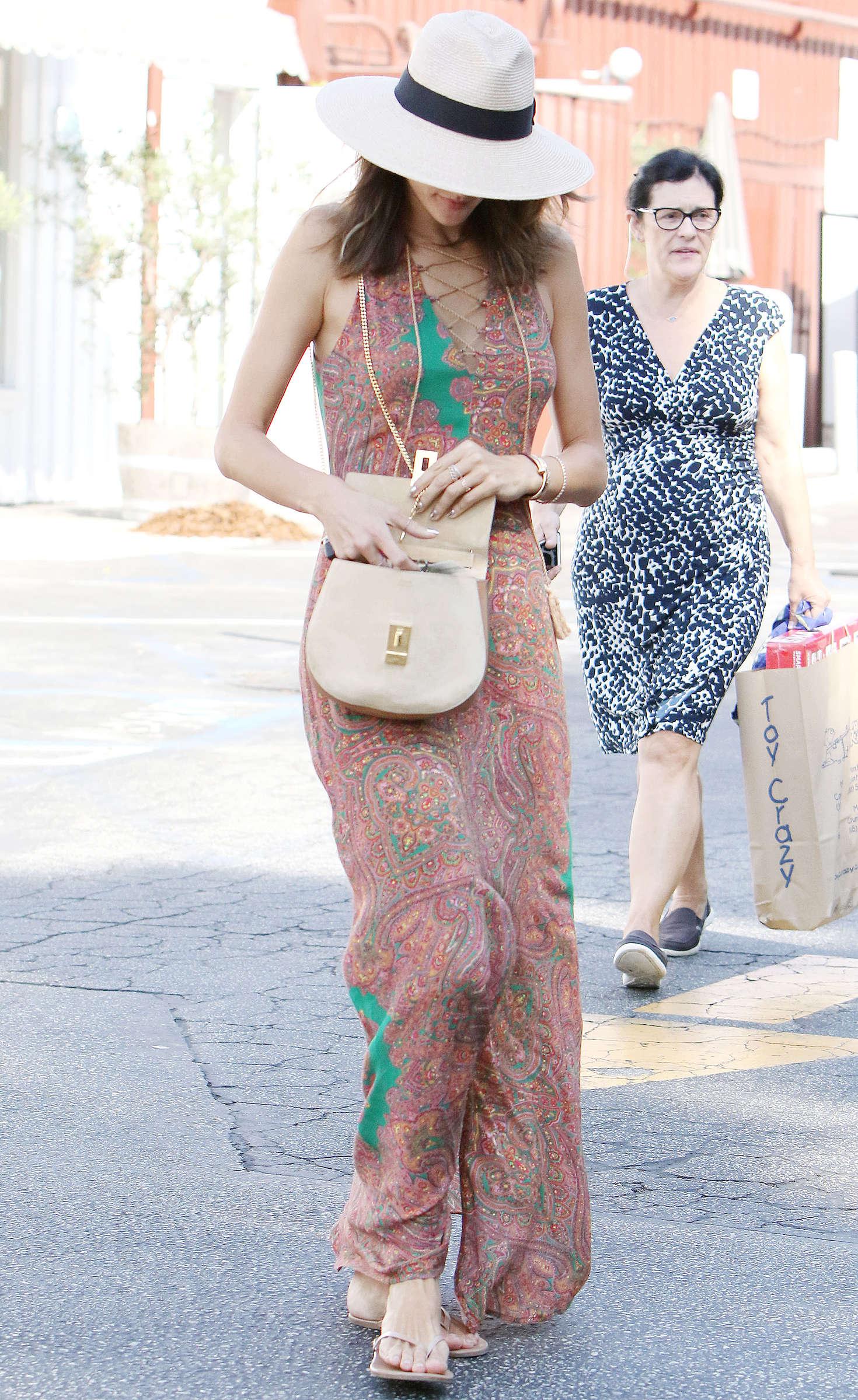 Alessandra Ambrosio 2016 : Alessandra Ambrosio in Long Summer Dress -13