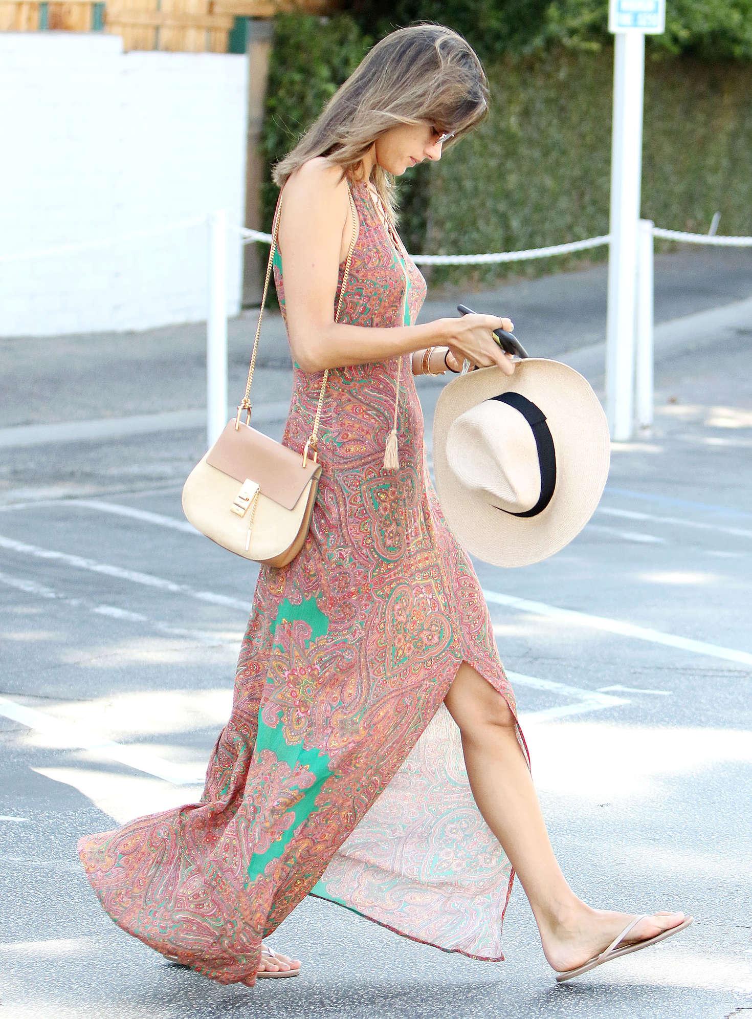 Alessandra Ambrosio 2016 : Alessandra Ambrosio in Long Summer Dress -16