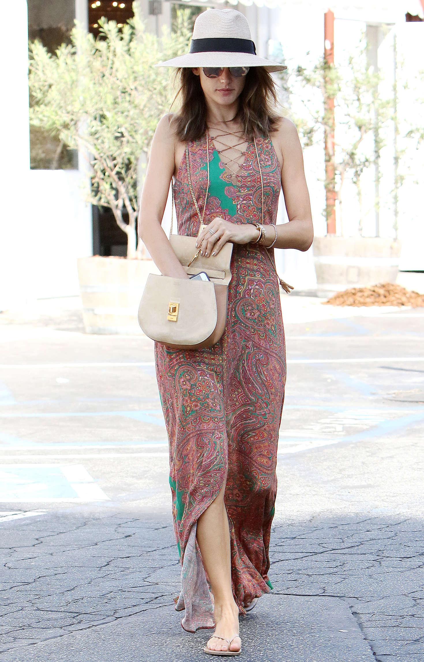 Alessandra Ambrosio 2016 : Alessandra Ambrosio in Long Summer Dress -18