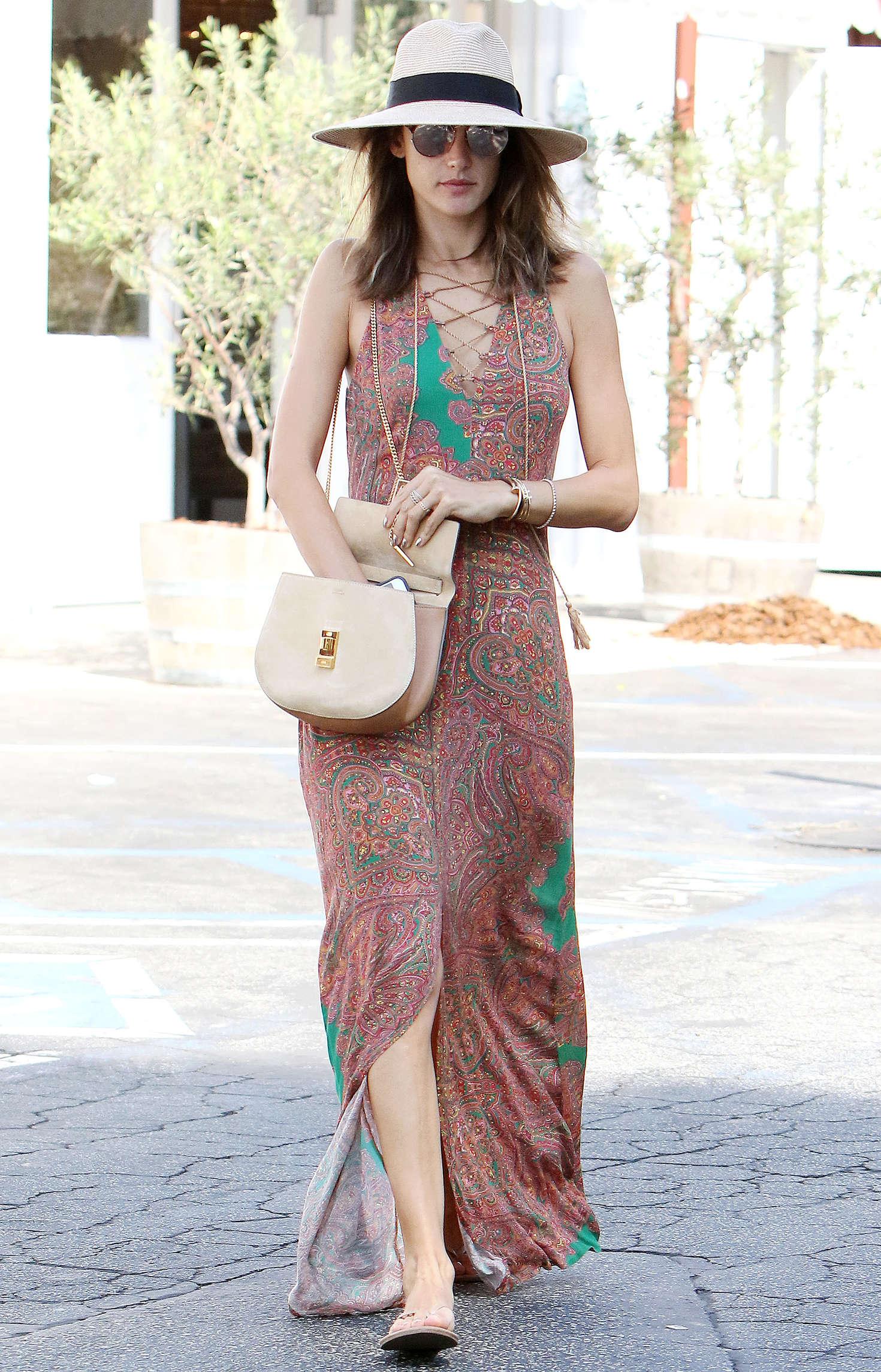 Alessandra Ambrosio 2016 : Alessandra Ambrosio in Long Summer Dress -20