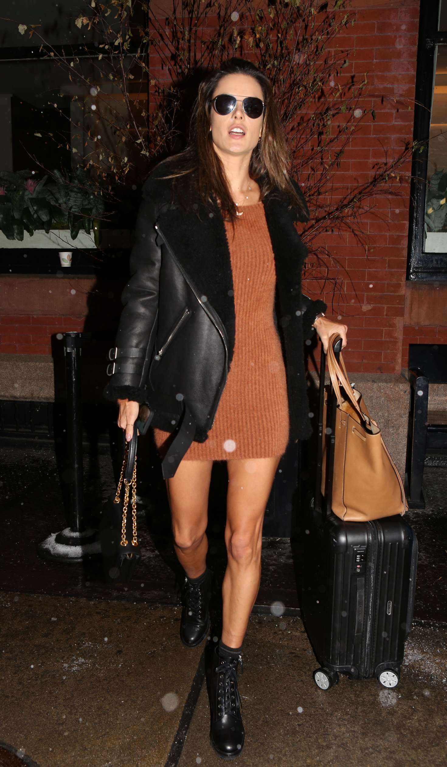 Alessandra Ambrosio In Mini Dress – Out In New York