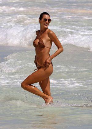 Alessandra Ambrosio in Nude Bikini in Tulum