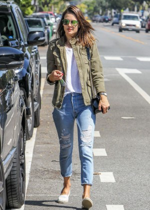 Alessandra Ambrosio in Ripped Jeans out in Los Angeles