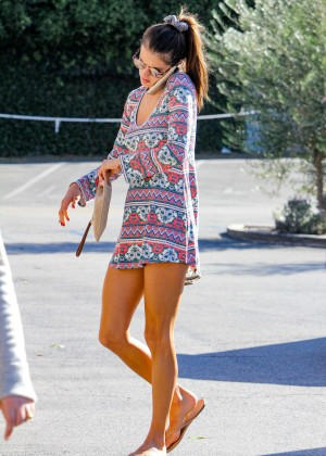 Alessandra Ambrosio in Short Dress out in Los Angeles