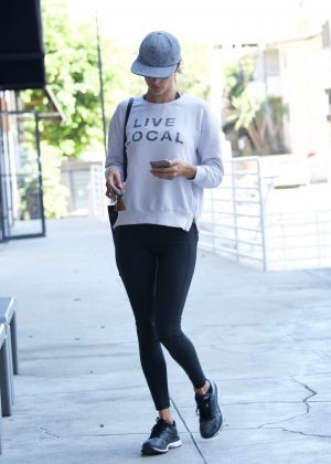 Alessandra Ambrosio in Spandex out in Brentwood